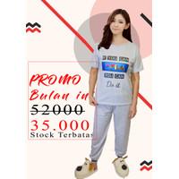 Baju Tidur Wanita / Piyama Wanita / Setelan Piyama Fila CP / Pajamas