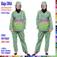 Baju OK / Baju OKA / Baju Perawat Pria & Wanita Lengan Panjang