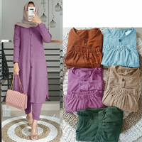 (CoD)Stelan Baju wanita Tunik Dan Celana Muslim