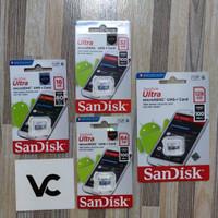 MicroSD SanDisk Ultra 16GB 32GB 64GB 128GB Memory Card Class10 Memori