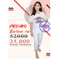 Baju Tidur Wanita / Piyama Wanita / Setelan Piyama Fila CP 01/ Pajamas