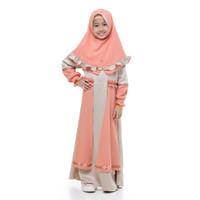 Bani Batuta - Setelan Baju Gamis Anak Perempuan Khimar Hafiz Agita - Kraft, 1-2 tahun