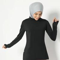 Emira Manset Black - HIA EveryWear - Baju Manset Senam Muslimah