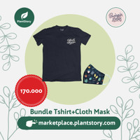 SL - Bundle T-shirt dan Cloth Mask masker kain limited edition