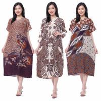 Daster Batik Lengan Pendek - Motif Acak / Campur - Leher Kancing