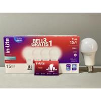 PAKET SUPER MURAH BELI 3 GRATIS 1 LAMPU LED INLITE 15W 15 WATT INB007 - Putih