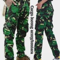 celana panjang loreng cargo army loreng tentara loreng TNI doreng