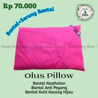 Bantal Bayi Anti Peyang Olus Pillow Isi Kulit Kacang Hijau | Pink