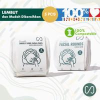 Kapas Kain Lembut Reusable Cotton Pads (5 Pcs) 6x6 cm Dua Sisi