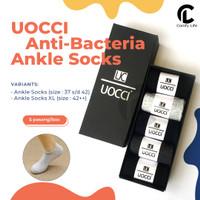 5 Pasang Kaos Mata Kaki / Ankle Socks Anti Bakteri Bau Cotton Spandex - Ankle