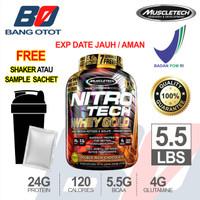 Muscletech Nitrotech Whey Gold 5.5 Lbs BPOM FREE SHAKER Gold Whey 5 Lb