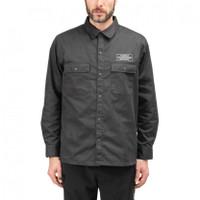 Kemeja Neighborhood Classic Work EC Shirt Long Sleeve Charcoal