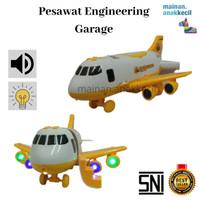Mainan Anak Cowok Pesawat Engineering Garage-Isi mobilan truk