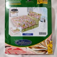 sprei bedcover set 160x200 queen size california sarung bantal guling