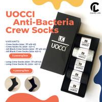 5 Pasang Kaos Kaki Kerja / Crew Socks Anti Bakteri Bau Cotton Spandex - Long Crew, REG
