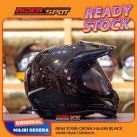 Helm Motor ARAI Tour-Cross 3 Glass Black Motocross Helmet Japan TX3