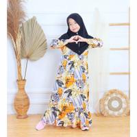 Baju Gamis motif absrak anak perempuan gamis muslim anak kekinian