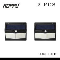 (2 PCS) Roppu Lighting 108 LED Solar Wall Light Outdoor
