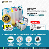 Fast Print Ciss Infus Modif Printer Epson CX2900 C59