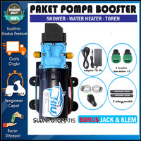 PAKET POMPA BOOSTER SHOWER WATER HEATER OTOMATIS - HIU NONDRAT 100PSI