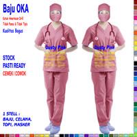 Baju OK / Baju OKA / Baju Perawat Pria & Wanita Lengan Pendek