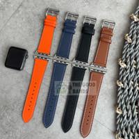 Strap Apple Watch 5 Hermes Single Tour Leather Kulit Tali 40mm 44mm