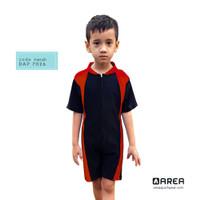 Baju Renang Anak Laki - Laki | Diving Anak Terusan Cowo Usia 2 - 6 th - Merah, M