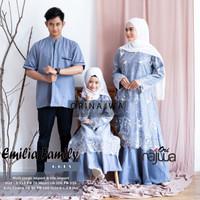 Promo Baju Gamis Tile Brokat Emilia Couple Family Ayah+Ibu+Anak Cewek