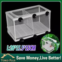 breeding box jaring box karantina ikan aquarium net breeder 2 sekat