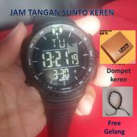Jam Tanggan Sunto Sporty Rubber Water Resist Free Dompet dan Gelang