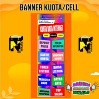 Spanduk Banner Backdrop pulsa kuota cell ukuran 100x50cm