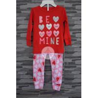 Baju Tidur Piyama Anak Perempuan Carters Set 1 Tahun Love