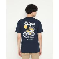 Kaos Pria Erigo T-Shirt Thrill Spills Cotton Combed Navy - L