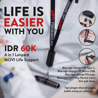 LANYARD USB ALL IN ONE - MOVI LIFE SUPPORT FOR TYPE C MICRO USB IPHONE