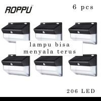 (6 PCS) Roppu Lighting 206 LED Solar Wall Light Outdoor