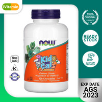 Vitamin Anak Kid Cal Calcium Citrate Magnesium D Now 100 Tablet Kunyah
