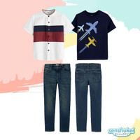 Baju Setelan Kaos Kemeja Celana Jeans Anak Remaja Laki Laki BK2002