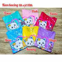 Kaos Anak Perempuan/Baju Anak Perempuan Motif Kucing Lucu.TSS