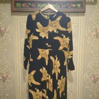 Baju Gamis Atasan Wanita Motif Bunga