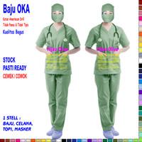 Baju OK / Baju OKA / Baju Jaga Pria & Wanita Lengan Pendek Ready