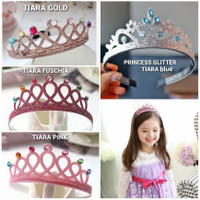 PRINCESS GLITTER TIARA mahkota anak perempuan princes frozen elsa anna