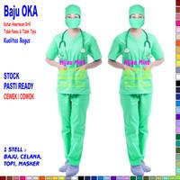 Baju OKA, Baju Perawat Pria & Wanita Lengan Pendek