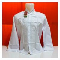 Baju Koko Dewasa Putih Lengan Panjang