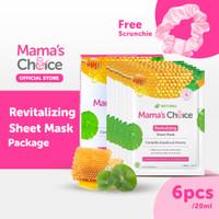 Mama's Choice Sheet Mask Revitalizing (6 pcs) - Masker Wajah - Pink