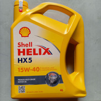 OLI PELUMAS MESIN SHELL HELIX HX5 API SN/CF, ACEA A3/B3 SAE 15W-40 4L