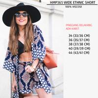 Celana Pendek Wanita Santai Batik Motif (HMP365)