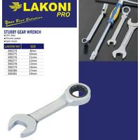 Kunci Ring Pas Ratchet Pendek / Stubby Gear Wrench LAKONI PRO No