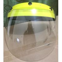 Helm Shield / Face Shield helm pelingdung bahan Polycarbonate - kuning