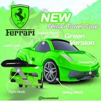 Tas Koper Anak Ferrari Remote Travel Case Trolly Troli HM1005 - Hijau