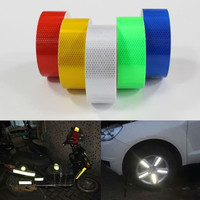 STIKER NYALA Reflektor Lakban Mata Kucing Bumper Mobil Motor Sepeda